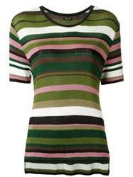 Osklen Knit Striped Top Green