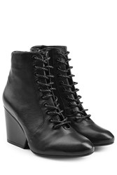 Robert Clergerie Lace Up Leather Boots Black