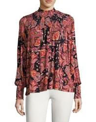 Context Paisley Print Blouse Black Multi