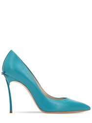 Casadei 100Mm Blade Leather Pumps Petrol