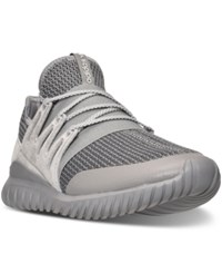 Adidas Men's Originals Tubular Radial Casual Sneakers From Finish Line Solid Grey Vintage White