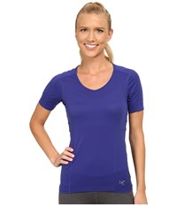 Arc'teryx Motus Crew S S Tanzanite Women's Short Sleeve Pullover Blue