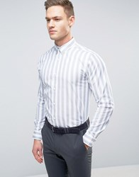 Selected Homme Slim Stripe Shirt Bright White