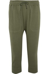 Nlst Cotton Jersey Track Pants Green
