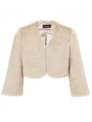 Phase Eight Short Fur Jacket Almond