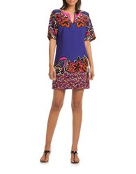 Trina Turk Carnival Silk Dress Multi