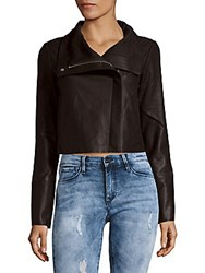 Veda Flint Solid Copped Jacket Black
