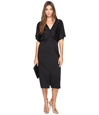 Kensie Lightweight Viscose Jersey Dress Ks2u7003 Black Women's Dress