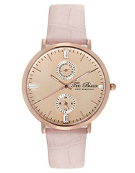 Ted Baker Ladies Rose Goldtone And Austrian Crystal Watch Pink