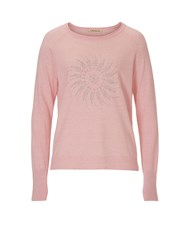 Betty Barclay Fine Knit Embellished Jumper Red
