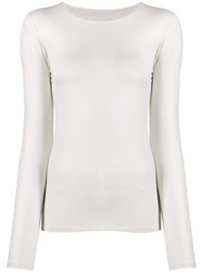 Majestic Filatures Crew Neck Jersey Top White