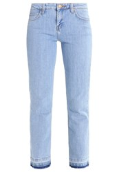 Lee Cropped Boot Bootcut Jeans Bleached Stone Light Blue Denim