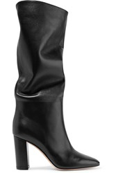 Gianvito Rossi Laura 85 Leather Knee Boots Black