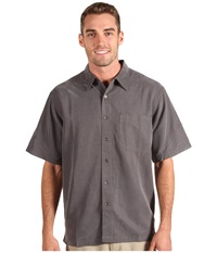 Royal Robbins Desert Pucker S S Shirt Obsidian Men's Short Sleeve Button Up Brown