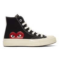 Comme Des Garcons Play Black Converse Edition Half Heart Chuck Taylor All Star '70 High Top Sneakers