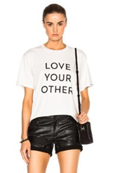 Mother X Self Evident Truths Buster Tee In White