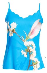 Ted Baker London Harmony Scalloped Camisole Bright Blue