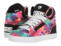 Osiris Clone Kaleidoscope Women's Skate Shoes Black