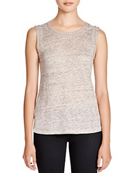 Generation Love Crystal Chain Embellished Tank Heather Grey