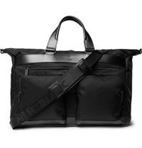 Montblanc Nightflight Leather Trimmed Twill Holdall Black