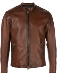 Coach Icon Racer Jacket Brown