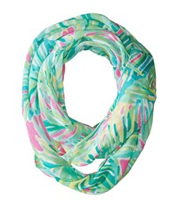 Lilly Pulitzer Mini Riley Infinity Loop Tropical Pink Topical Storm Scarves