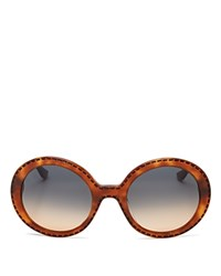 Moschino Whip Stitch Oversized Sunglasses 54Mm Brown Gradient Lens