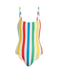 Solid And Striped The Nina Scoop Back Swimsuit Multi Stripe