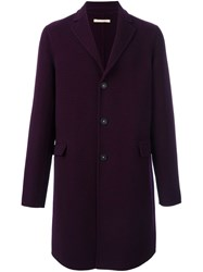 Massimo Alba Checked Coat Pink And Purple