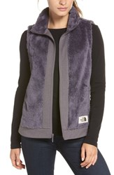 The North Face Faux Fur Vest Rabbit Grey