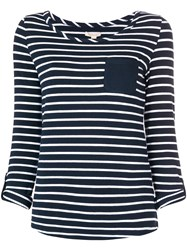 Barbour Chest Pocket Striped Top Blue
