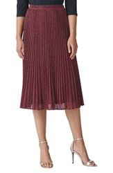 Whistles Sparkle Pleated Skirt Pink