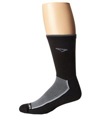 Drymax Sport Trail Running Crew 3 Pack Gray Black Crew Cut Socks Shoes