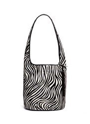 Elizabeth And James 'Finley Courier' Zebra Calfhair Leather Bag Animal Print Multi Colour