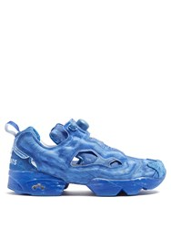 Vetements X Reebok Instapump Fury Canvas Trainers Blue