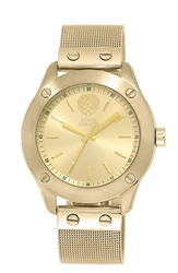 Vince Camuto Mesh Band Watch 41Mm Gold