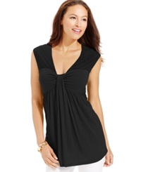 Miraclesuit Shaping Cap Sleeve Draped Top