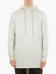 Rick Owens Off White Cotton Hoodie
