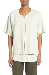 Eileen Fisher Women's Silk And Organic Cotton Cardigan Bone