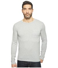 Threads For Thought Standard Long Sleeve Pocket Tee Marled Grey Men's T Shirt Gray