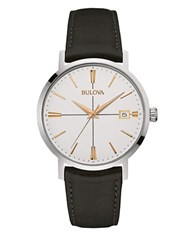 Bulova Stainless Steel Analog Watch Black