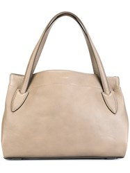 Max Mara Textured Shoulder Bag Nude And Neutrals