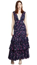 Fame And Partners The Dahlia Dress Floral Paisley Navy