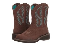Ariat Fatbaby Heritage Tooled Brown Brown Cowboy Boots
