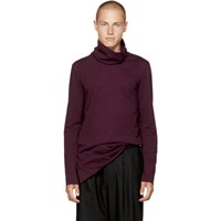 Attachment Burgundy Wide Collar Turtleneck