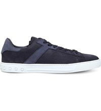 Tod's Tods Tennis Leather Trainers Navy