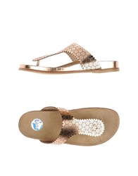 Ras Footwear Thong Sandals Women Bronze
