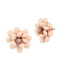 Betsey Johnson Faceted Stone Stud Earrings Pink