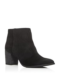Dolce Vita Lennon Western Pointed Toe Booties Black