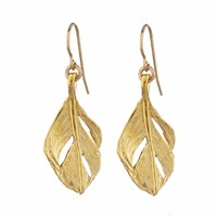 Chupi I Can Fly Midi Swan Feather Earrings Gold